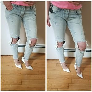 One Teaspoon Freebirds 80's style ripped jeans 27